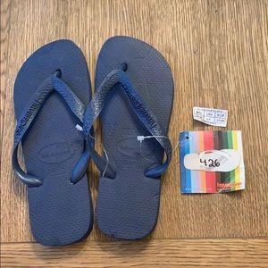 Havaianas, 35-36, dark blue, wide strap, new